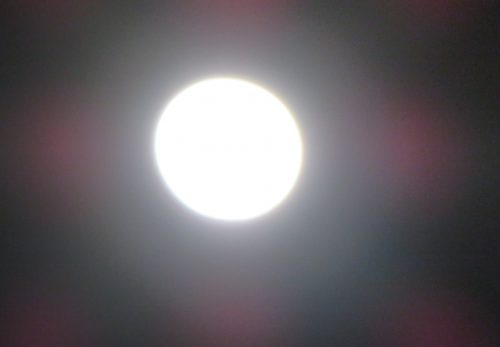 神々しい満月
